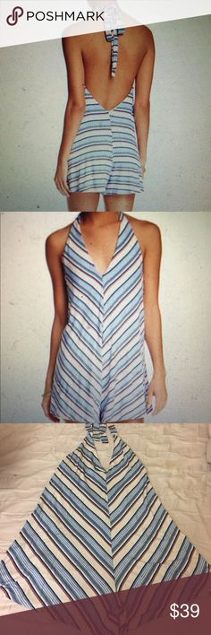 Halter Neck Romper New with tags Lush Pants Jumpsuits & Rompers