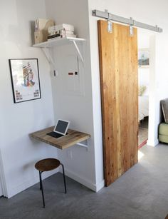 tiny apartment sliding doors