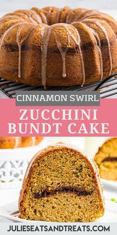 Moist, tender and delicious Zucchini Bundt Cake with a cinnamon swirl in the middle that is topped with a cinnamon glaze. This is a great way to use up your garden zucchini this summer. The perfect snack, dessert or treat with your morning coffee. #zucchini #recipe Chocolate Raspberry Cheesecake, Quick Cake, Easy Summer Desserts, Cake Bars, Pastry Cake, Afternoon Snacks, No Bake Desserts, Cheesecake Recipes, Morning Coffee