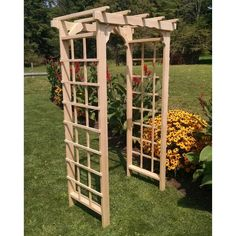 A & L Furniture Morgan 7 ft. Cedar Arbor - 1142C-CEDAR