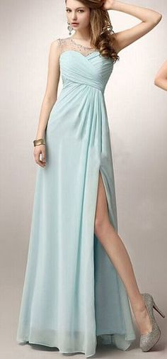 Long Prom Dress,Simple Design Bridesmaid Dress,Slit Bridesmaid Dress,Elegant Bridesmaid Dress,Evening Dress