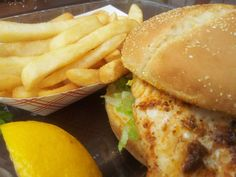 The Grouper Sandwich and Fish and Chips from the Pier 60 concession stand on Clearwater Beach.