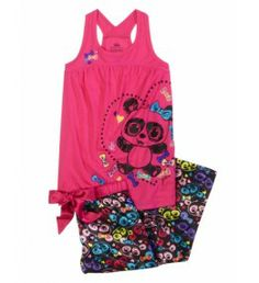 Justice Clothes for Girls Outlet | Girls Clothes | TANK/CHARM PANT PANDA - Pj's | Shop Justice
