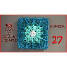 Number 27 of our 365 Days of Granny Squares is on the blog!! This one is super fun to make using Front Post stitches!!