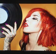 Kat Von D short red hair!