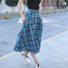 Cheap cotton factory t shirts, Buy Quality skirt denim directly from China skirt ballet Suppliers:  PRODUCT DESCRIPTION   Veri Gude Plaid Skirt Women Long Skirt A-Line Cotton Skirt British Style    Model Number&nb