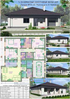 Home Garden Design, Home Design Plans, Plan Design, Home And Garden, House Design, Villa, Interior Photo, Tiny House, House Plans