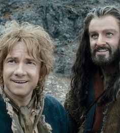 Bilbo and Thorin best friends until the end<--the literal end.  Where one-half of the equation dies. *evil insane grin*