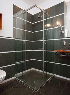 classy aqua glass shower by mwe wwwmwedeen