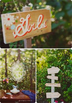 hand painted sign - want to do this for the future summerhouse.