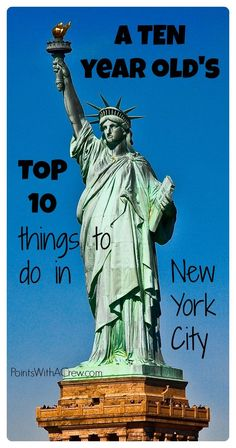If you're looking for the top 10 things to do in New York City for tweens or teens - check out this authentic NYC list written by a 10 year old