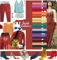 Красно-терракотовый цвет и сочетание с ним
