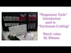"""""""Pergamano"""" Introduction to the Tools used for """"Parchment Crafting"""" - YouTube"""