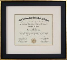 Get your diploma out of your trunk and onto your wall nows the framing diplomas certificates and awards solutioingenieria Image collections