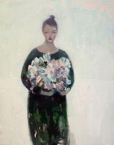 "Kristin Vestgard, ""Source"", oil 30 x 24cm, £1300. Available from:http://www.cornwallcontemporary.com/exhibition/kristin-vestgard/"