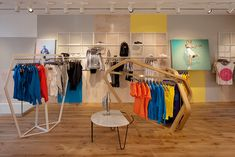 Adidas by Stella McCartney store by APA.    Very interesting fixtures