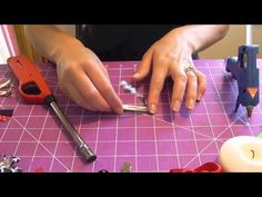 How to make a Lined Alligator Clip (Ribbon Hair bow tutorial) - YouTube