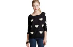 Alythea Heart Sweater - A sweet patterned sweater you can wear now and later.