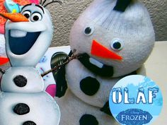 Hello Kitty, Olaf Y Muñeco de Nieves (hecho de Calcetines o Calcetas) | Aprender manualidades es facilisimo.com