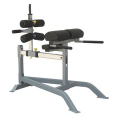 Don't mistake this powerful piece of equipment for a sit up machine, although you can do GHD sit-ups with this machine. This is a glut and ham machine that will give you an intense explosive workout and strengthen not only your core, but will sculpt your gluts and hamstrings. Do hip extensions, glut ham developer reps, the glut ham raise, or the GHD sit-up that is super popular in CrossFit studios.