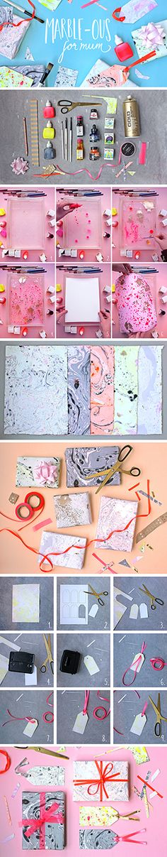 Make it personal for Mother's Day - check out our new blog post on How to marble your own gift wrap and tags... it's truly marble-ous!