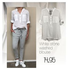 """witte blouse"" by bellino on Polyvore"