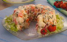 A maionese enformada é ótima para fazer na ceia em família para o natal, essa receita vai deixar sua mesa ainda mais bonita. Maionese Enformada