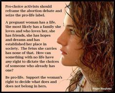 .Pro-choice/Pro-Life Amen Amen. Beautifully put.