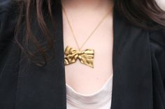 Etsy bow necklace