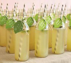 Lemonade wedding favours. Find more wedding favour ideas here http://raspberrywedding.com/category/raspberry-wedding/decoration/stationeryandfavours/