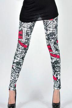 Letter Symbols Fashion Leggings