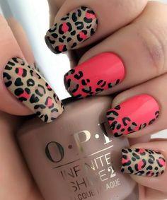 easy leopard nail art designs 2016 - style you 7 Leopard Nail Designs, Nail Art Designs 2016, Leopard Nail Art, Leopard Print Nails, Leopard Prints, Leopard Spots, Pretty Nail Art, Fabulous Nails, Trendy Nails