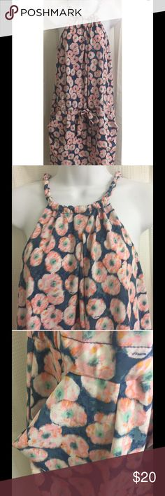 """RACHEL Rachel Roy Dropwaist Tank Dress S RACHEL Rachel Roy Tank Dress S Small Dropwaist Drawstring Pockets Floral Braided  Flirty dropwaist dress with a braided tank top, drawstring tie and usable pockets in the front, buttoned pockets in the back Lovely print of blue, pink, white and orange watercolor style flowers Excellent, gently used condition - no flaws noted Approximate measurements: Chest = 17"""" across laid flat Length = 37"""" from shoulder to bottom of dress RACHEL Rachel Roy Dresses"""