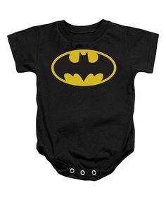 Loving this Black Batman Emblem Bodysuit - Infant on #zulily! #zulilyfinds