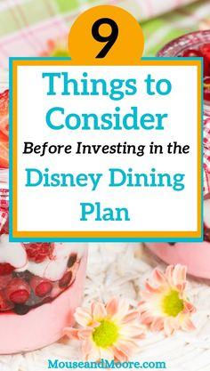 Is the Disney Dining Plan Worth It? Disney World Parks, Disney World Vacation, Disney Vacations, Disney Trips, Disney Travel, Disney Hotels, Disney Snacks, Disney Food, Walt Disney