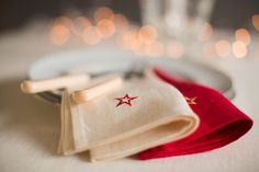 Irish linen napkins work perfectly with the Rósóg  dark red French linen at www. AgnesH Design.com