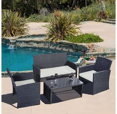 4-Piece Rattan Wicker Patio Furniture Set (Free Shipping) $279.99 (sears.com)
