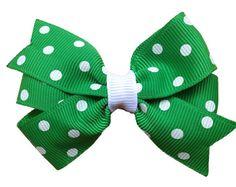 3 inch green hair bow  green bow toddler bows girls hair