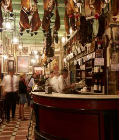 A bar in Seville, complete always with jamon iberico.