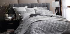 Kabuki Silver Quilt Cover Set by Florence Broadhurst Linen Bedding, Duvet, Bed Linens, Florence Broadhurst, Guest Bed, Quilt Cover Sets, King Beds, All Modern, Luxury Bedding