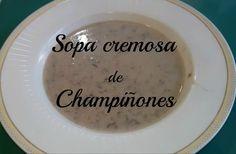 Sopa cremosa de champiñones  FOZITA INIESTA