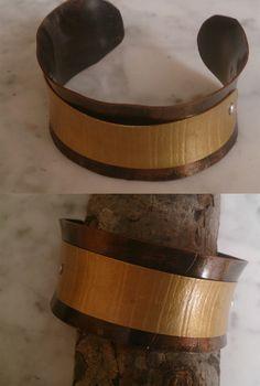 De cobre con latón. Cuff Bracelets, Belt, Accessories, Jewelry, Copper, Bangle Bracelets, Belts, Jewlery, Jewerly