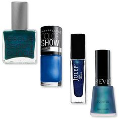 Fall Makeup Must Haves: Polish: Blue:  These deep navy blues aren't quite black, but are a far cry from the popular aquamarine shades of the summer. Maybelline's Navy Narcissist ($4; drugstore.com) add a fun element to the dark shade. If you're feeling really adventurous, pick up Revlon's Ocean Breeze ($5; ulta.com) which dries with a fresh aquatic scent that's noticeable even under a top coat.
