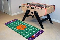 Clemson Tigers Football Field Runner Area Rug/Carpet