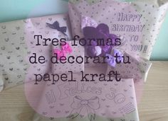 cafecondiy: DIY: tres formas de decorar papel kraft