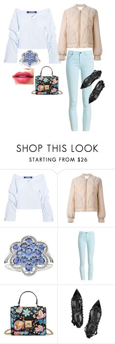 """""""Без названия #1181"""" by katya-ukraine ❤ liked on Polyvore featuring Jacquemus, See by Chloé, Barbour and Valentino"""