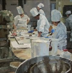 Cooking with Gas, Cameron Smith, The Greenbrier Cameron Smith, Source Of Inspiration, Great Love, Will Smith, Painting, Cooking, Impressionism, Cucina, Painting Art