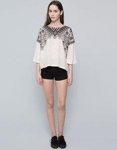 Pull&Bear - woman - sweatshirts - flared sleeves sweatshirt - ecru - 09592392-I2015