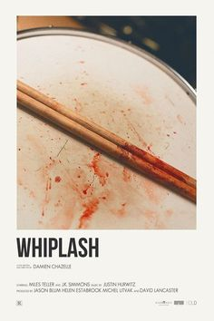 Whiplash by Damien Chazelle Iconic Movie Posters, Minimal Movie Posters, Movie Poster Art, Poster S, Iconic Movies, Minimal Poster, Poster Maker, Poster Layout, Geek Culture