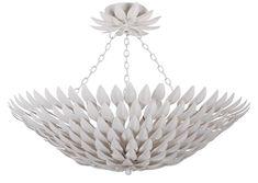 Crystorama Broche 6 Light Matte White Flower Hanging Ceiling Mount #lighting #lightfixtures  #homedecor